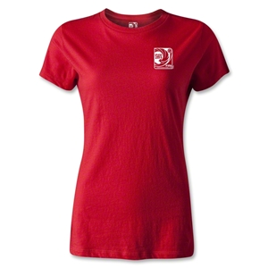 FIFA Confederations Cup Brazil 2013 Women's Small Emblem T-Shirt (Red)