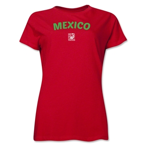 Mexico FIFA U-17 Women's World Cup Costa Rica 2014 Women's Core T-Shirt (Red)
