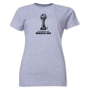 FIFA Club World Cup Morocco 2013 Women's Official Emblem T-Shirt (Grey)