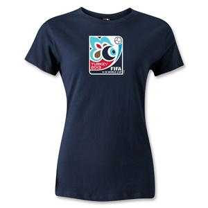 FIFA U-20 World Cup Turkey 2013 Women's Emblem T-Shirt (Navy)