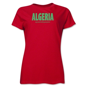Algeria Powered by Passion Women's T-Shirt (Red)