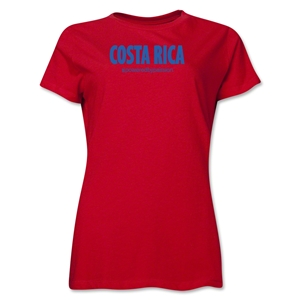 Costa Rica Powered by Passion Women's T-Shirt (Red)