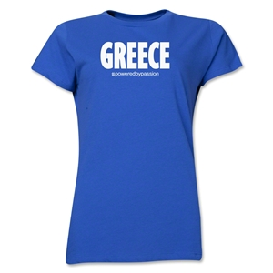 Greece Powered by Passion Women's T-Shirt (Royal)