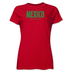 Mexico Powered by Passion Women's T-Shirt (Red)