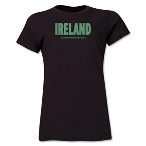 Ireland Powered by Passion Women's T-Shirt (Black)