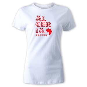Algeria Women's Country T-Shirt (White)