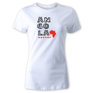 Angola Women's Country T-Shirt (White)