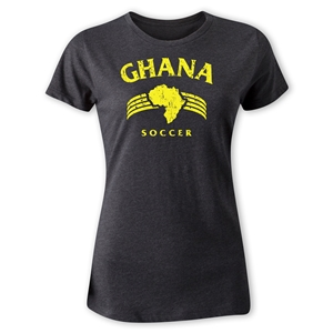Ghana Women's Country T-Shirt (Dark Gray)