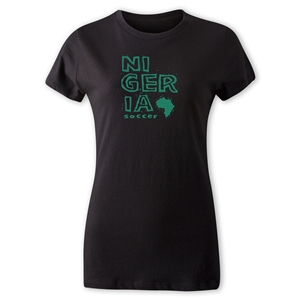 Nigeria Women's Country T-Shirt (Black)