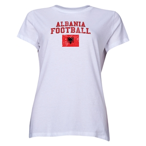 Albania Women's Football T-Shirt (White)