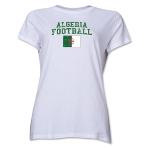 Algeria Women's Football T-Shirt (White)