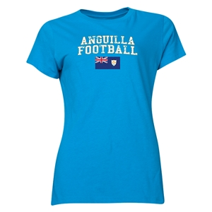 Anguilla Women's Football T-Shirt (Turquoise)