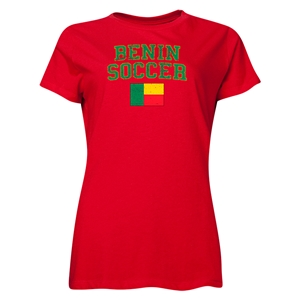 Benin Women's Soccer T-Shirt (Red)
