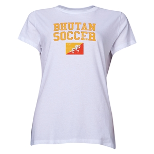 Bhutan Women's Soccer T-Shirt (White)