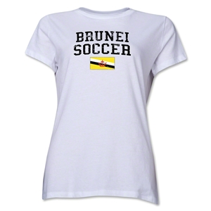Brunei Women's Soccer T-Shirt (White)