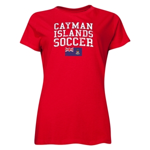 Cayman Islands Women's Soccer T-Shirt (Red)