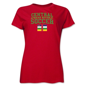 Central African Republic Women's Soccer T-Shirt (Red)