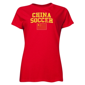 China Women's Soccer T-Shirt (Red)
