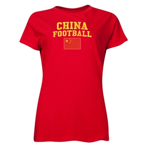 China Women's Football T-Shirt (Red)
