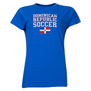 Dominican Republic Women's Soccer T-Shirt (Royal)