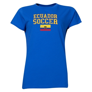 Ecuador Women's Soccer T-Shirt (Royal)
