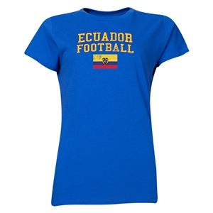 Ecuador Women's Football T-Shirt (Royal)