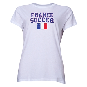 France Women's Soccer T-Shirt (White)