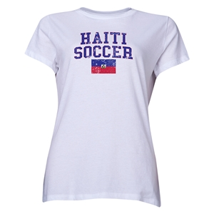 Haiti Women's Soccer T-Shirt (White)