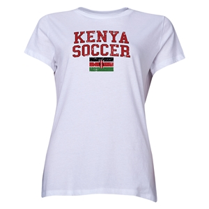 Kenya Women's Soccer T-Shirt (White)