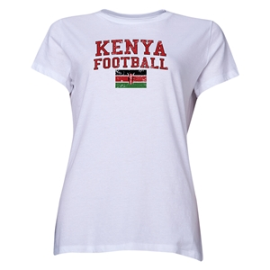 Kenya Women's Football T-Shirt (White)