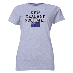 New Zealand Women's Football T-Shirt (Grey)