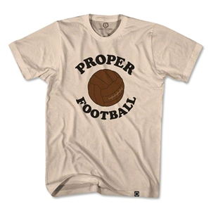 Proper Football Soccer T-Shirt (Tan)