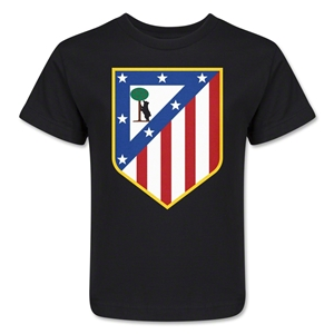 Atletico Madrid Crest Kids T-Shirt (Black)