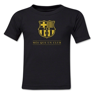 Barcelona Mes Que Un Club Kids T-Shirt (Black)