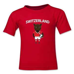 Switzerland Animal Mascot Kids T-Shirt (Red)