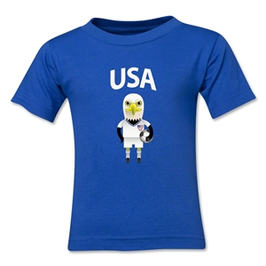 USA Animal Mascot Kids T-Shirt (Royal)