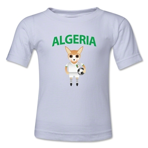 Algeria Animal Mascot Kids T-Shirt (White)