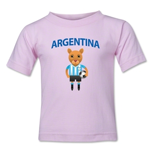 Argentina Animal Mascot Kids T-Shirt (Pink)