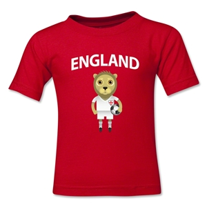 England Animal Mascot Toddler T-Shirt (Red)
