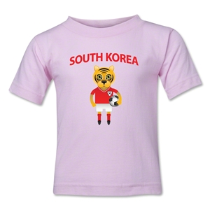 South Korea Animal Mascot Toddler T-Shirt (Pink)