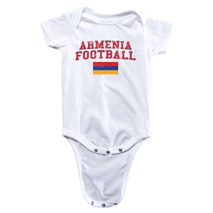 Armenia Football Onesie (White)