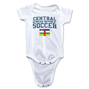 Central African Republic Soccer Onesie (White)