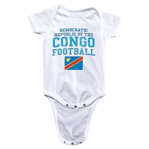 Congo DR Football Onesie (White)