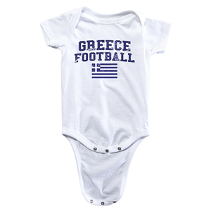 Greece Football Onesie (White)
