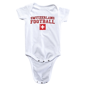 Switzerland Football Onesie (White)