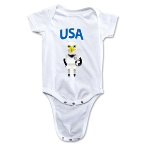 USA Animal Mascot Onesie (White)
