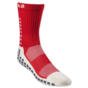 TRUSOX Crew Length Sock-Cushion (Red)