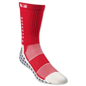 TRUSOX Crew Length Sock-Thin (Red)