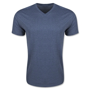 Men's V-Neck Tee (Heather Nv)