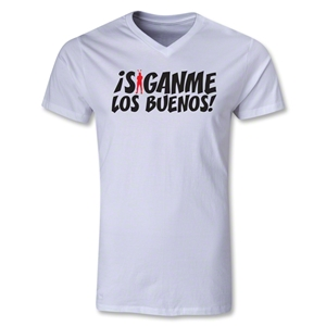 Chapulin Los Buenos V-Neck T-Shirt (White)